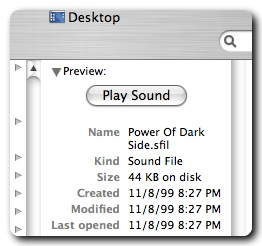 Sounds in Finder