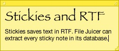 Stickies and RTF