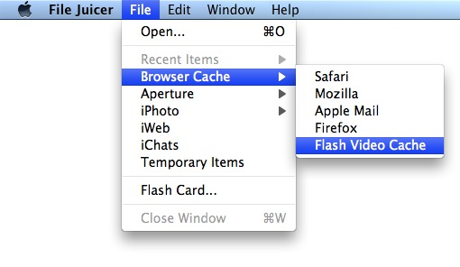 Flash Cache Menu