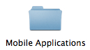iPhone Mobile Applications Folder